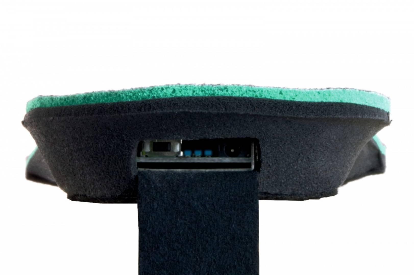 Glovii - Ogrzewane wkładki do butów z pilotem, czarno-czerwone rozmiar L (41-46)