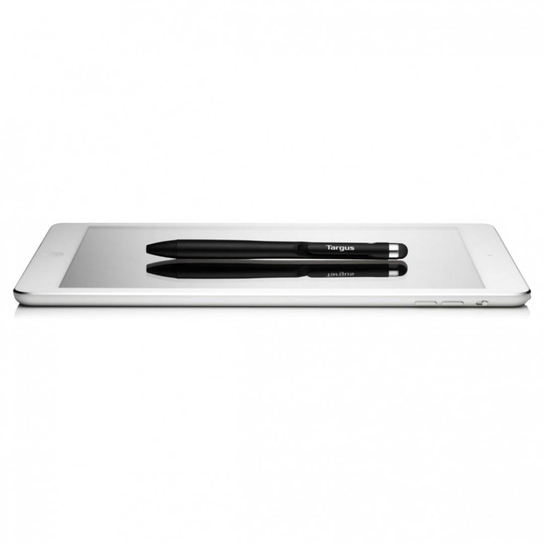 2-in-1 Pen Stylus (For All Touch Screen Devices) Black