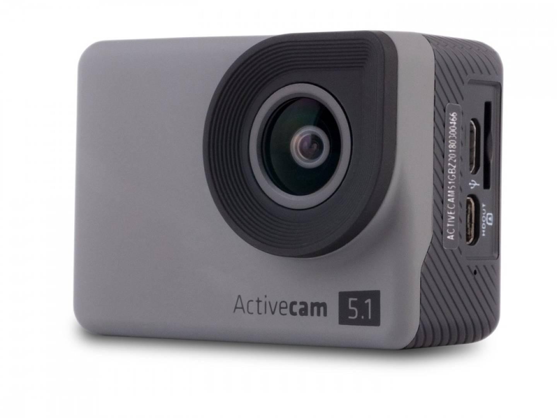 Kamera sportowa ACTIVECAM 5.1 4K Wifi, kijek, 3 baterie