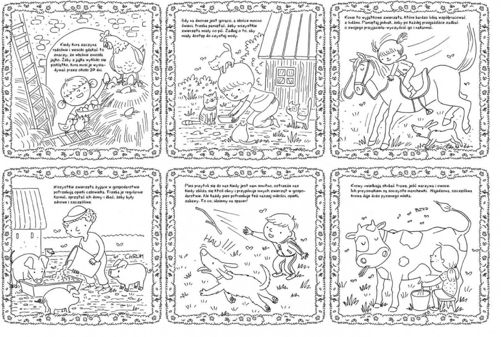 Książeczka harmonijkowa do kolorowania display naładowy, 8 sztuk