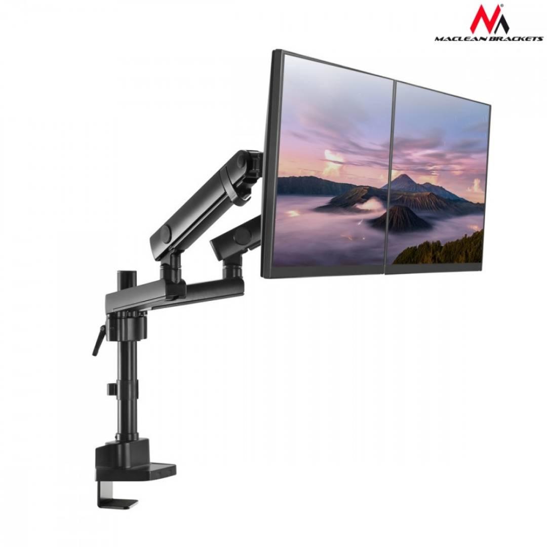 Uchwyt biurkowy na 2 monitory MC-812