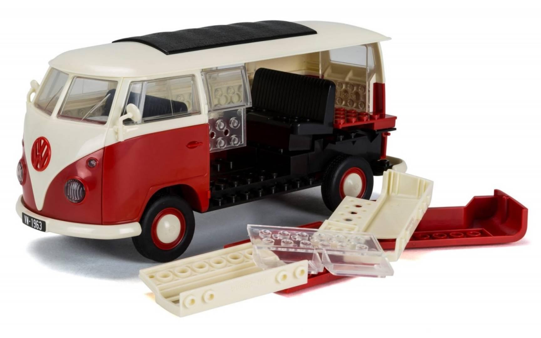 Model plastikowy QUICKBUILD VW Camper Van czerwony