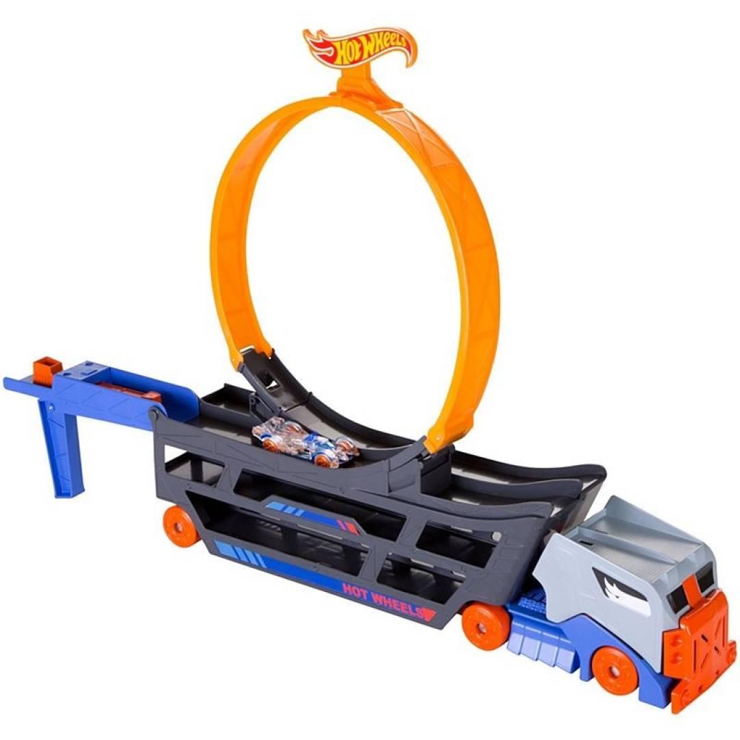 Ciężarówka z pętlą + samochodzik Stunt & Go