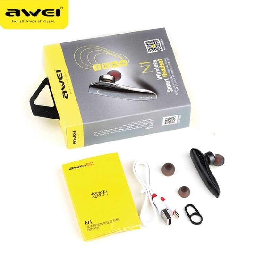 Słuchawka Bluetooth N1 szara