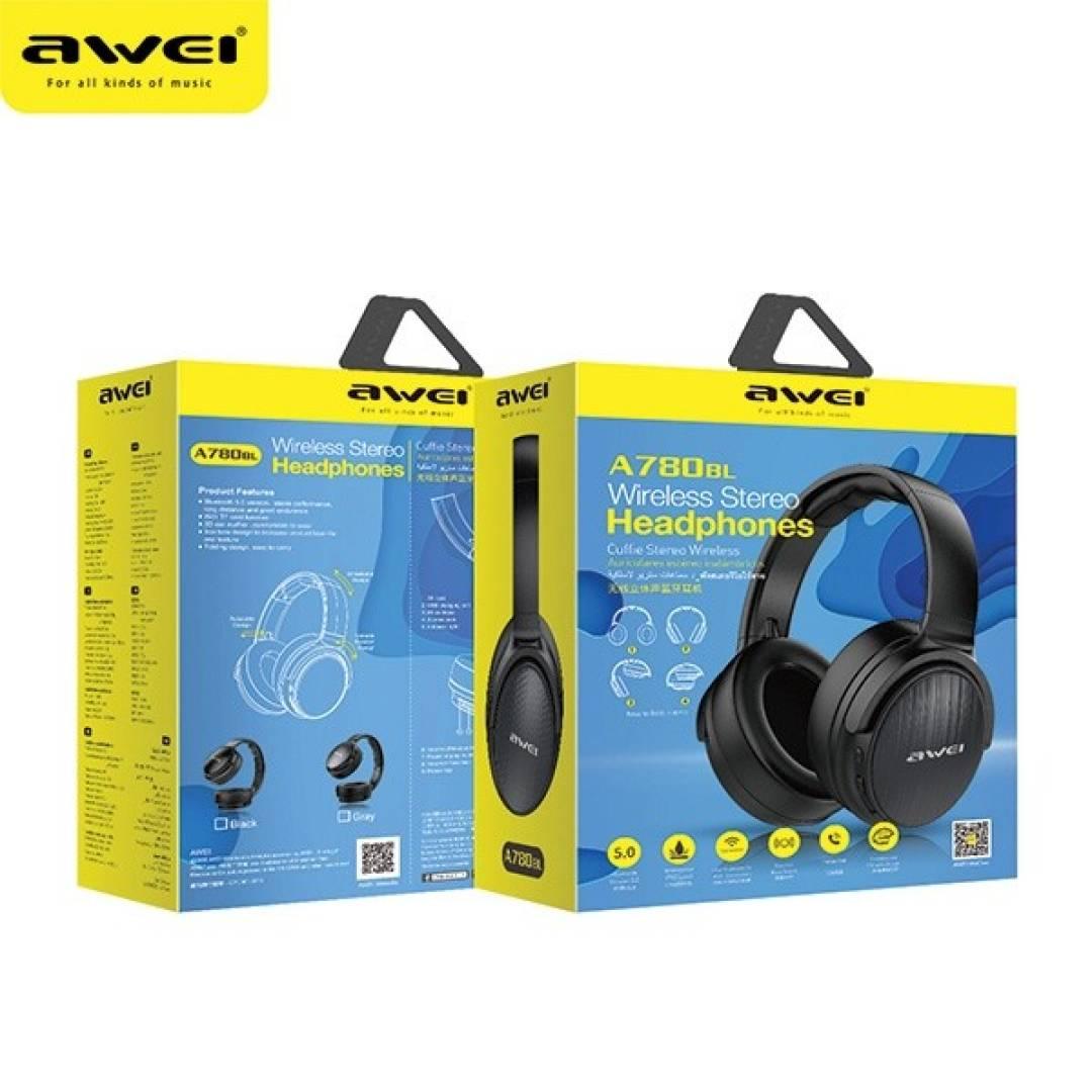Słuchawki nauszne Bluetooth A780BL czarne