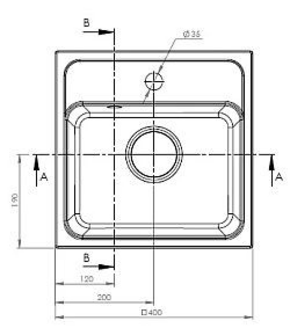 Zlewozmywak Camea Mini 1B 40x40 cm beżowy