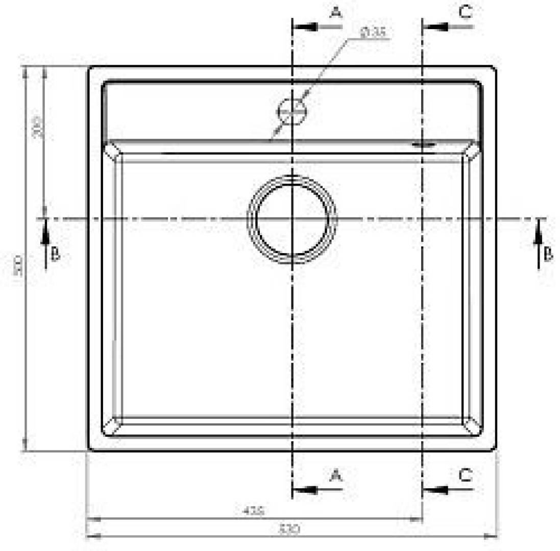 Zlewozmywak Camea 1B 50x53 cm beżowy