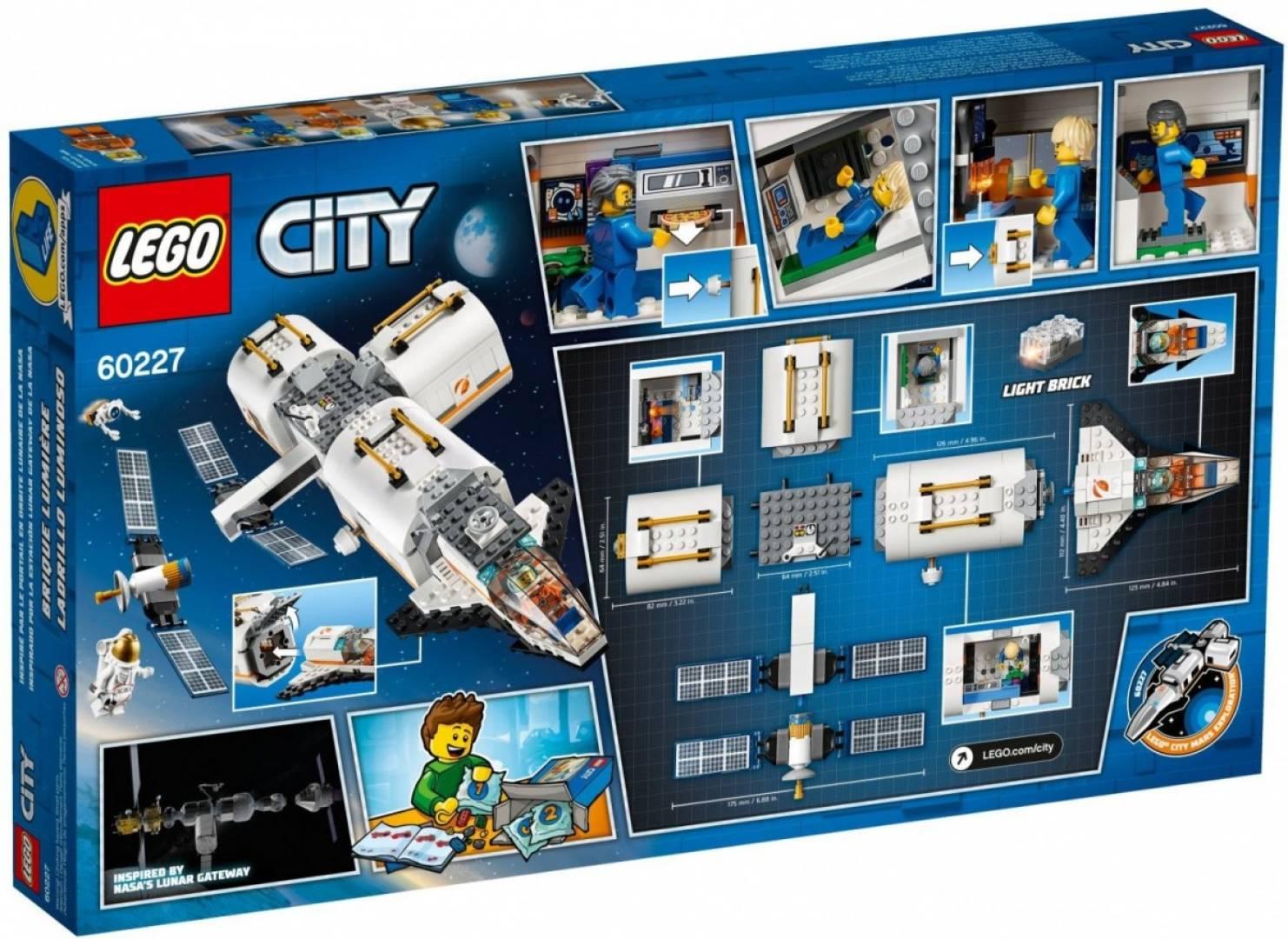 Klocki City Stacja kosmiczna na Księżycu