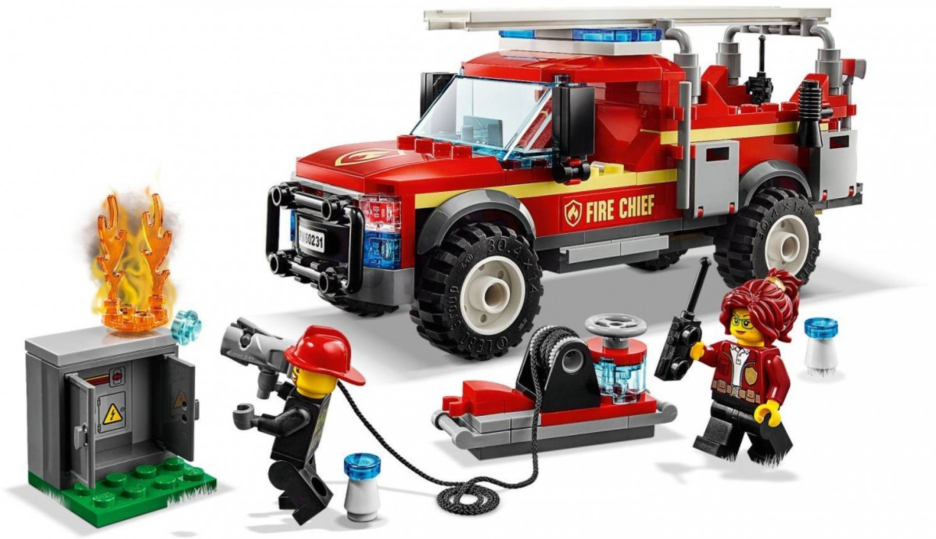 Klocki City Terenówka komendantki straży pożarnej