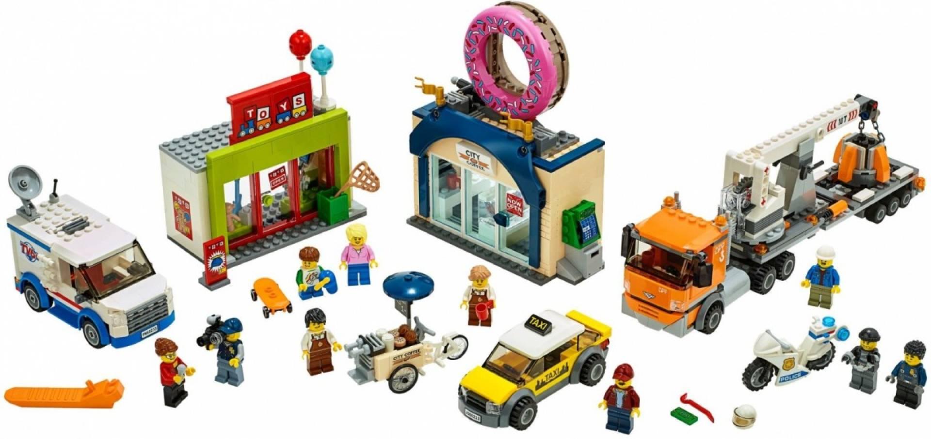 Klocki City Otwarcie sklepu z pączkami