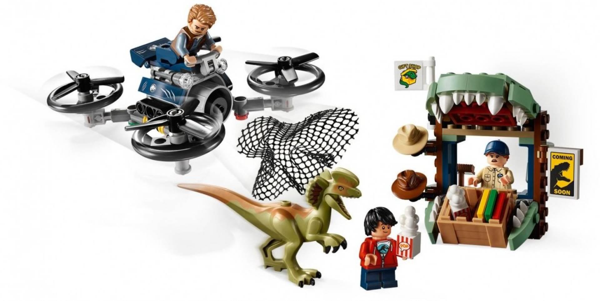 Klocki Jurassic World Dilofozaur na wolności