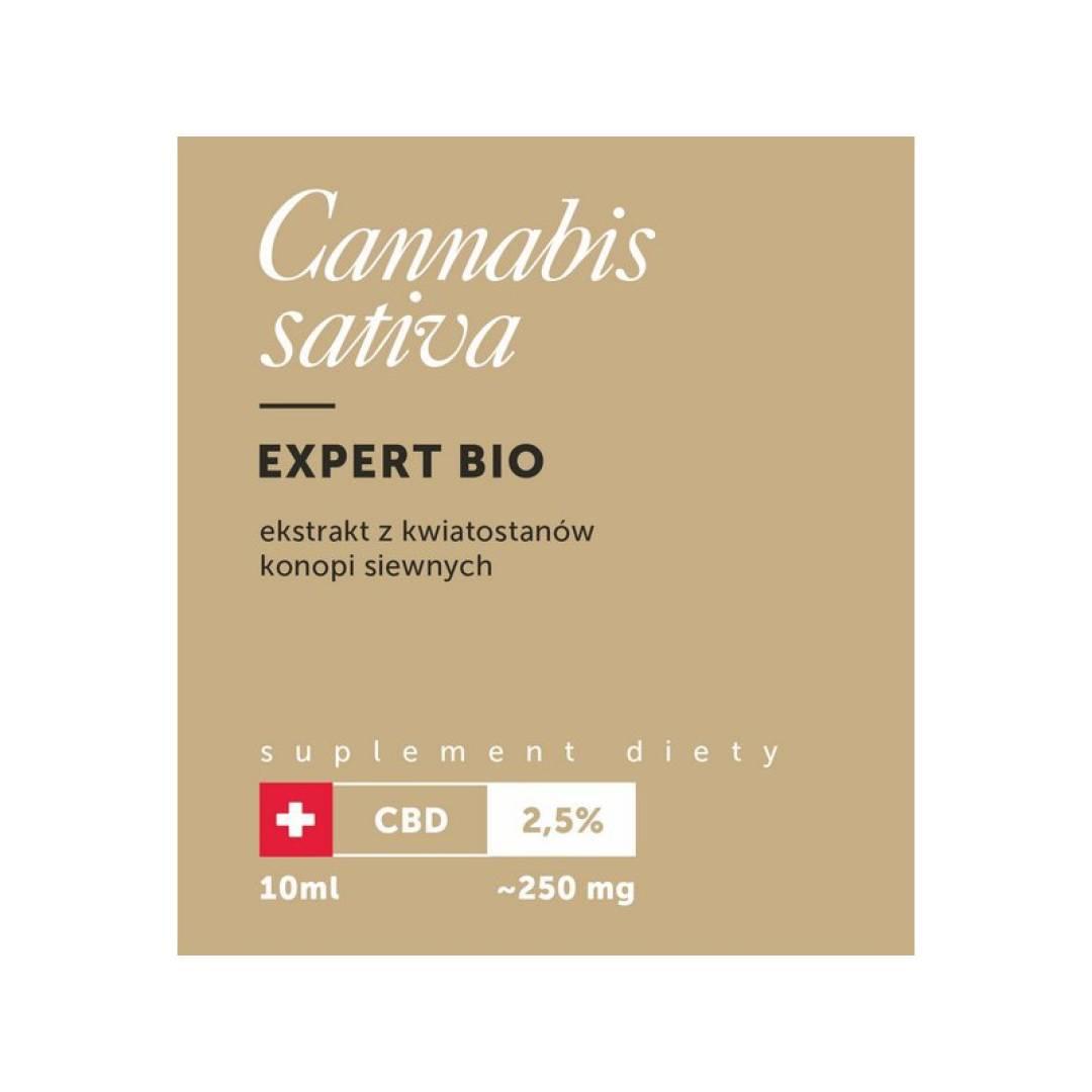 Olejek CBD BIO 2,5% 10ml Cannabis Sativa