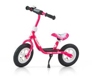 Rower biegowy Dusty 12'' rozowo-biały