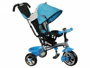 Rower niebieski trójkołowy