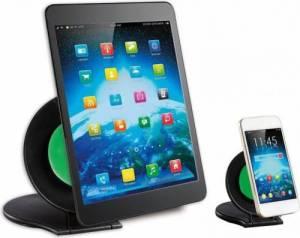 Zestaw dwóch podstawek do tabletu i smartphone, czarny