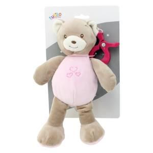 Zawieszka New Baby Miś różowy 25 cm