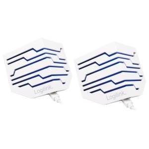 Głośniki mini Stereo Active z podświetleniem LED, biały