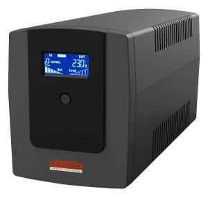 Zasilacz awaryjny UPS MEL-1200ssu 1200VA/720W AVR LCD 3xSCH USB RJ45