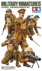 Model plastikowy Brytyjska piechota z I wojny światowej