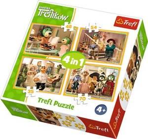 Puzzle 4w1 Rodzina Treflików - Przygotowania do balu