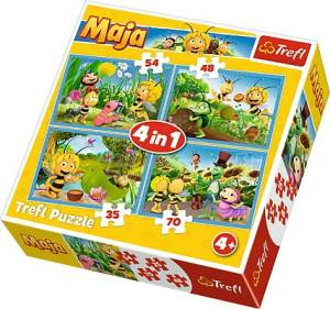 Puzzle 4w1 Przygody Pszczółki Mai