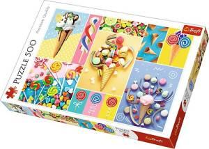 Puzzle 500 elementów - Ulubione słodycze
