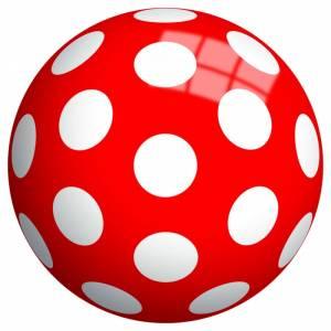 Piłka perłowa 23 cm, Kropki