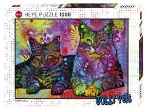 Puzzle 1000 elementów - Dwa koty