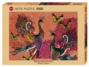 Puzzle 1000 elementów - Pawie i motyle