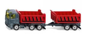 Ciężarówka wywrotka z przyczepą