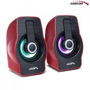 Głośniki komputerowe 6W USB czarne/czerwone AC855R