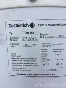 Zbiornik DE DIETRICH 150 L-F67110 typ SR 150