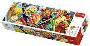 Puzzle 1000 elementów Panorama Słodkie przysmaki