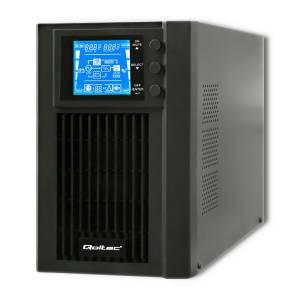 Zasilacz awaryjny UPS, on-line, czysta fala sinusoidalna, 1KVA, 800W, LCD, USB