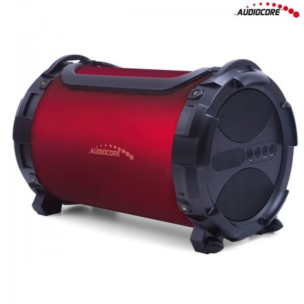 Audiocore Głośnik bazooka AC880 bluetooth microSD bordo