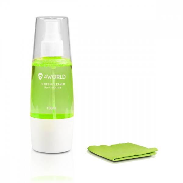 Zestaw czyszczący 150ml, ściereczka 20x20cm, zielony