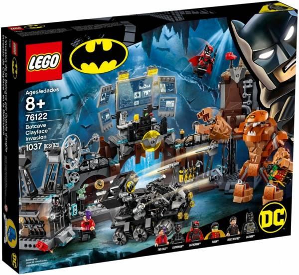 Klocki Super Heroes Atak Clayfacea na Jaskinię Batmana