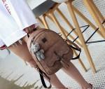 Dziewczęcy szkolny zestaw plecak torebka portfel
