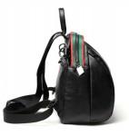 Dziewczęcy plecak damski zgrabny czarny skóra HIT