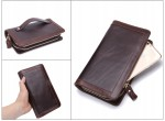 Gustowny męski portfel skórzany na prezent brąz
