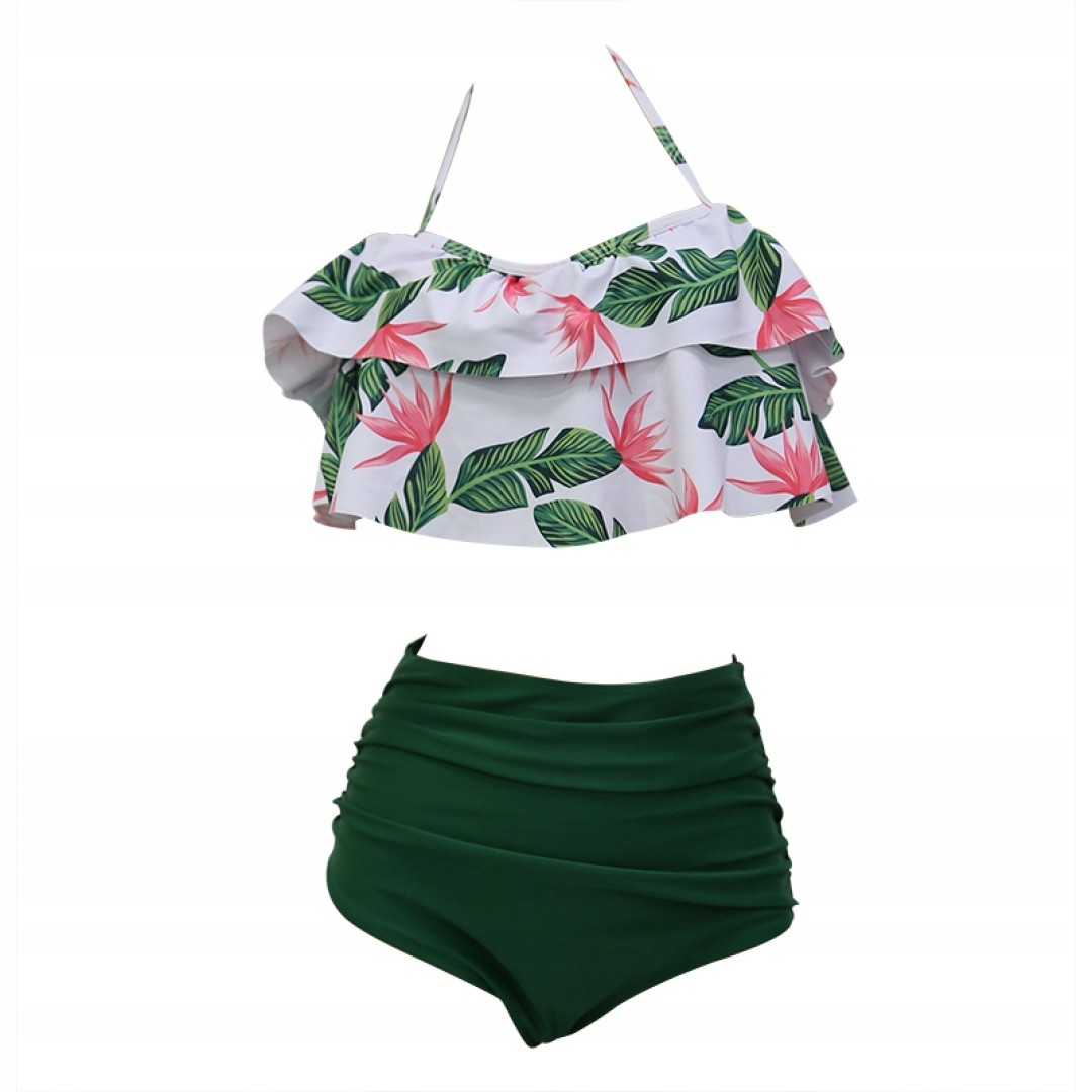 Cudowny strój kąpielowy bikini hiszpanka mega L
