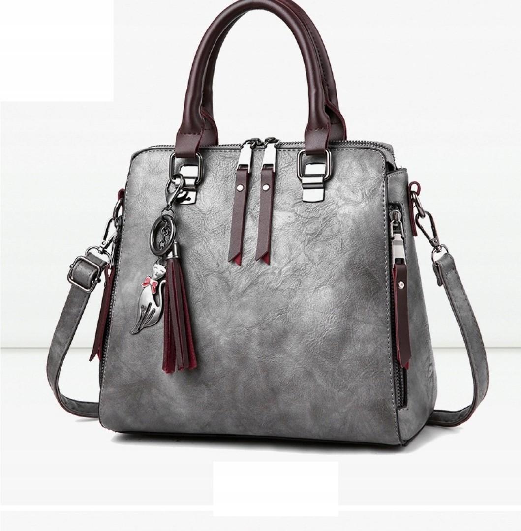Elegancka pojemna torebka damska skórzana kobieca