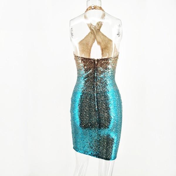 797918cc87 Dopasowana sukienka cekiny na sylwestra imprezę S - OKENO.pl Darmowe ...