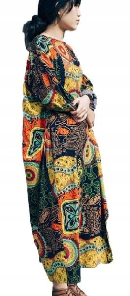 Indyjska sukienka orientalna boho maxi oversize