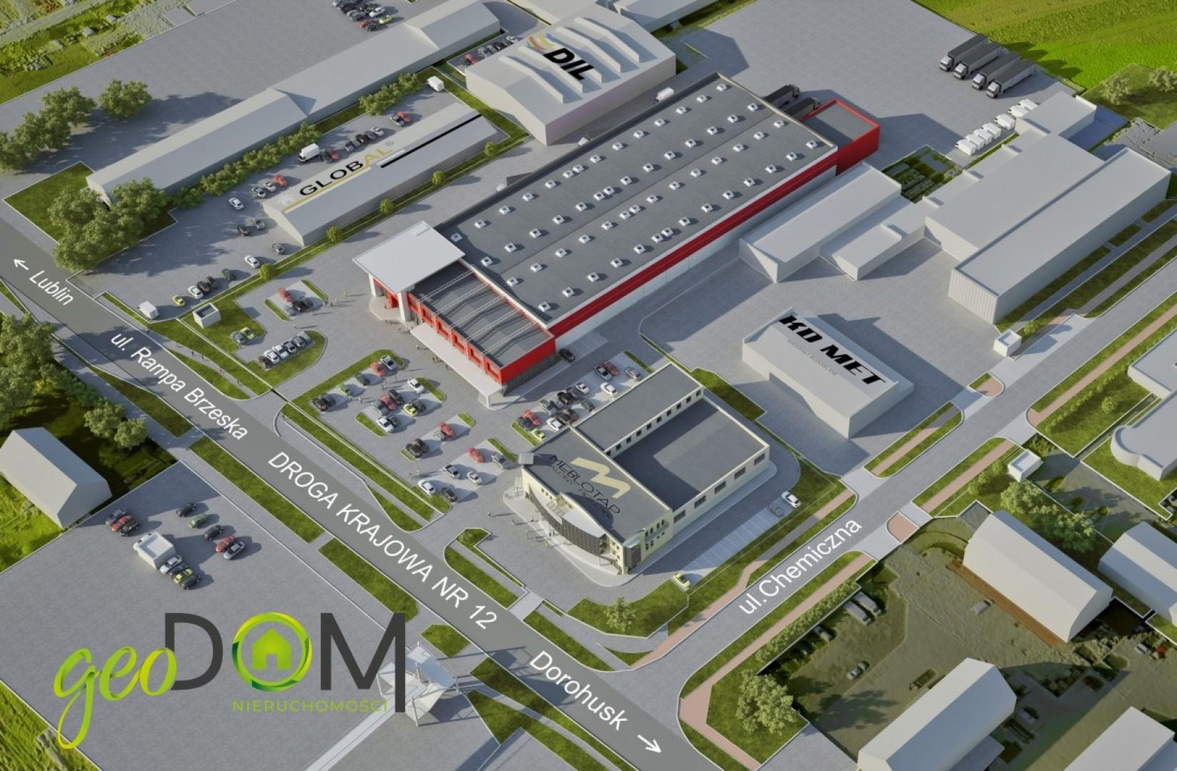 Działka przemysłowa 2 ha z projektem rozbudowy.